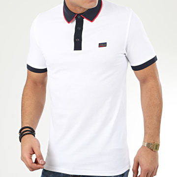 Jack And Jones - Polo Manches Courtes Charming Blanc