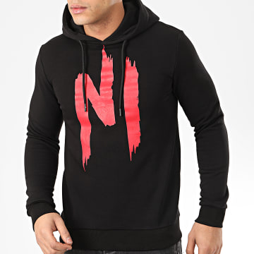 NI by Ninho - Sweat Capuche H001 Noir Rouge