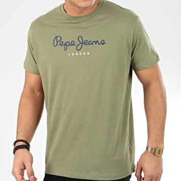Pepe Jeans - Tee Shirt Eggo PM500465 Vert Kaki