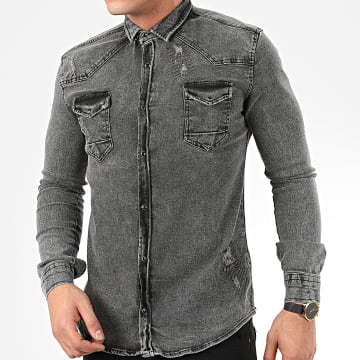 Uniplay - Chemise Jean Manches Longues 118 Gris