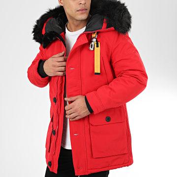 parka rouge homme la boutique officielle