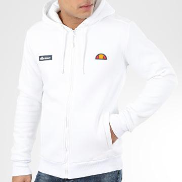 Sweat Zippé Capuche 1032N Blanc