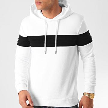 LBO - Sweat Capuche Bicolore 854 Blanc Noir