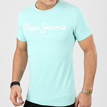 Pepe Jeans - Tee Shirt Original Stretch 501594 Turquoise
