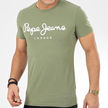 Pepe Jeans - Tee Shirt Original Stretch 501594 Vert