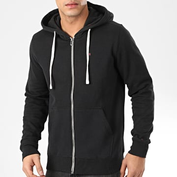 Teddy Smith - Sweat Zippé Capuche Gelly 3 Noir