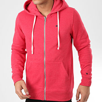 Teddy Smith - Sweat Zippé Capuche Gelly 3 Rouge Chiné