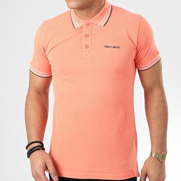 Polo Manches Courtes Pasian Orange Corail