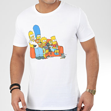 The Simpsons - Tee Shirt Couch Blanc