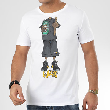 Y et W - Tee Shirt Character Blanc Gris