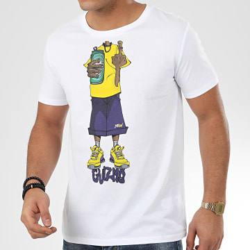 Y et W - Tee Shirt Character Blanc Jaune