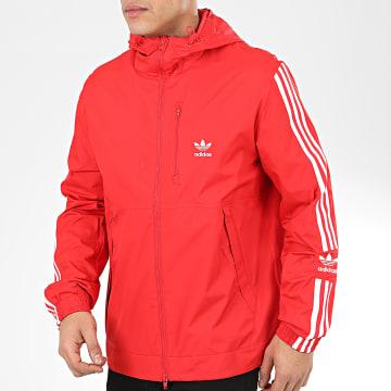 Adidas Originals - Veste Zippée A Bandes Lock Up FM3816 Rouge