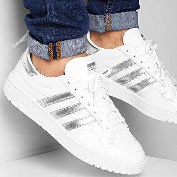 Adidas Originals - Baskets Team Court EG9824 Footwear White Silver Metallic