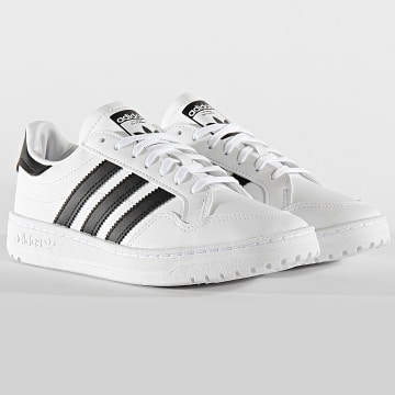 Adidas Originals - Baskets Femme Team Court EF6815 Footwear White Core Black