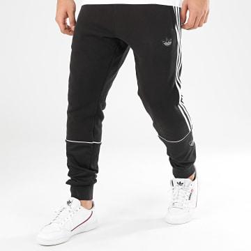 Pantalon Jogging A Bandes Outline FM3912 Noir Blanc