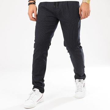 Pantalon A Rayures 1018786 Bleu Marine