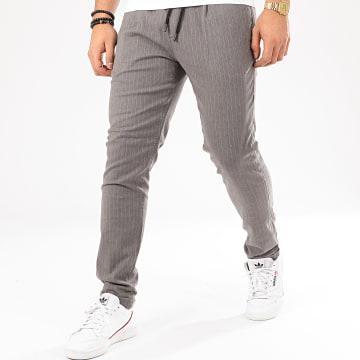 Tom Tailor - Pantalon A Rayures 1018786-XX-12 Gris Chiné