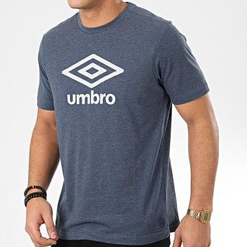 Umbro - Polo Manches Courtes 739160 Bleu Chiné