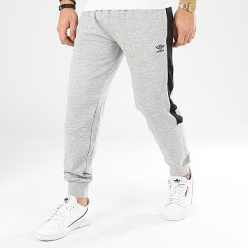 Pantalon Jogging A Bandes 771791 Gris Chiné Noir