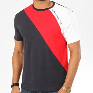 Tee Shirt Tricolore 3HZTFH-ZJH4Z Bleu Marine Rouge Blanc