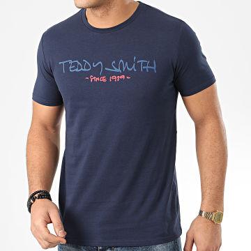 Teddy Smith - Tee Shirt Ticlass Basic Bleu Marine