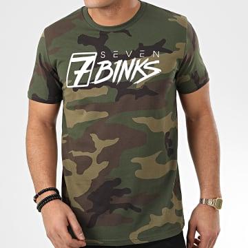 Tee Shirt Vignette Camouflage Vert Kaki