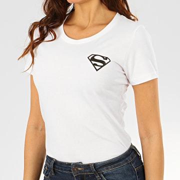 DC Comics - Tee Shirt Femme Back Logo Blanc