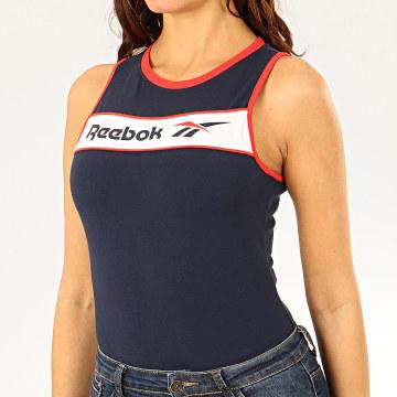 Reebok - Body Femme Débardeur Tricolore Classic F Linear FM3932 Bleu Marine Rouge Blanc