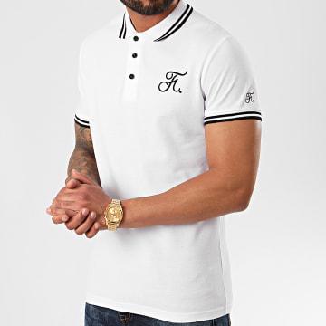 Polo Premium Avec Broderie 269 Blanc Noir