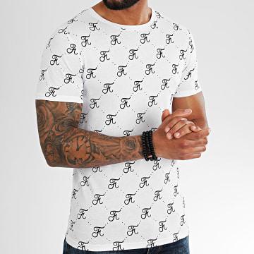 Final Club - Tee Shirt Premium Fit Allover Logo 332 Blanc