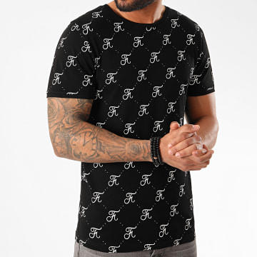Final Club - Tee Shirt Premium Fit Allover Logo 336 Noir
