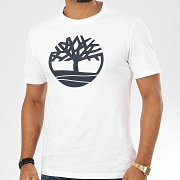 Timberland - Tee Shirt KR Brand Tree 2CGA Blanc