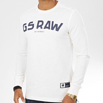G-Star - Tee Shirt Manches Longues D16395-4561 Blanc Cassé