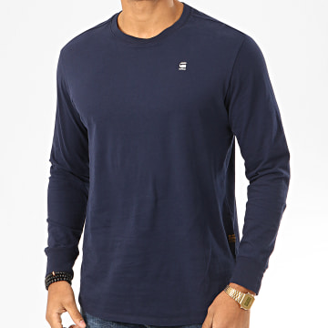 Tee Shirt Manches Longues Oversize Lash D16397-B353 Bleu Marine