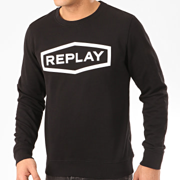 Replay - Sweat Crewneck M3088 Noir