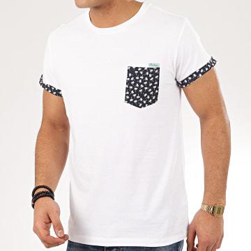 Deeluxe - Tee Shirt Poche Floral Bahamas Blanc