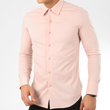 Chemise Manches Longues NS-7179 Rose Clair