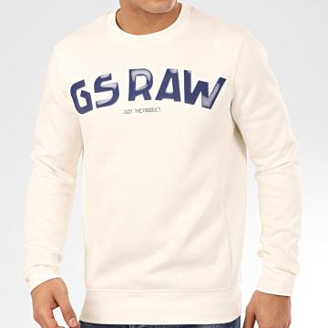 Sweat Crewneck Gsraw GR D16468-A971 Ecru