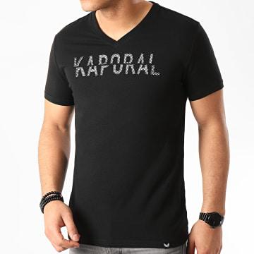 Kaporal - Tee Shirt Col V Mock Noir