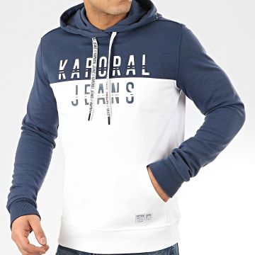 Kaporal - Sweat Capuche Tosca Blanc Bleu Marine
