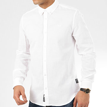 Chemise Manches Longues Wolf Blanc
