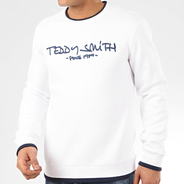 Teddy Smith - Sweat Crewneck Siclass RC Blanc