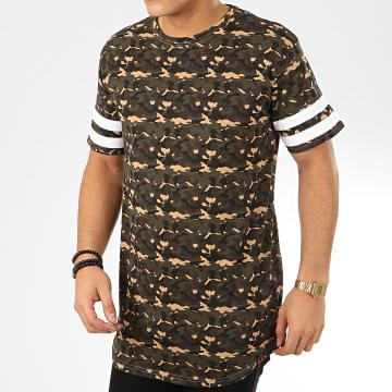 Denim Project - Tee Shirt Oversize Camouflage Alberto Vert Kaki