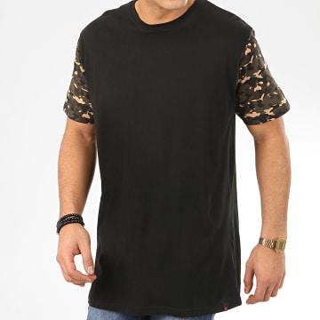 Denim Project - Tee Shirt Oversize Camouflage Noir