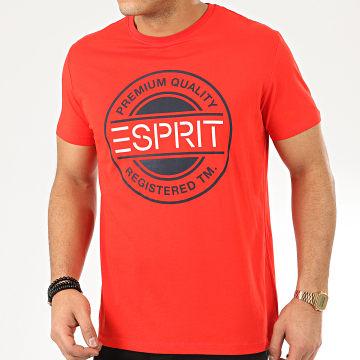 Esprit - Tee Shirt 990EE2K305 Rouge