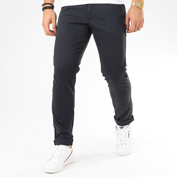 Esprit - Pantalon Chino Slim 998EE2B806 Bleu Marine