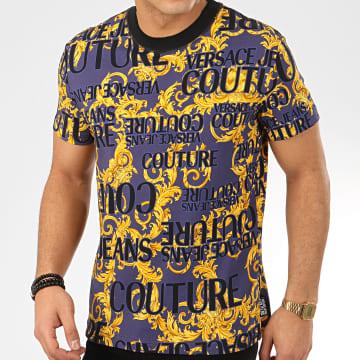 Tee Shirt Renaissance B3GVA7SA-S0630 Bleu Marine Jaune Noir