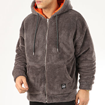 Classic Series - Sweat Zippé Capuche Fourrure 19495 Gris Anthracite
