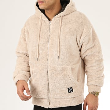 Classic Series - Sweat Zippé Capuche Fourrure 19495 Beige