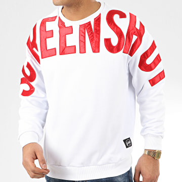 Classic Series - Sweat Crewneck 19512 Blanc Rouge